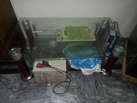 Double glass table