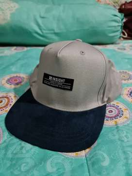 Topi Snapback Insight Biru Abu Original