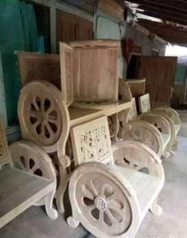 Set kursi roda antik