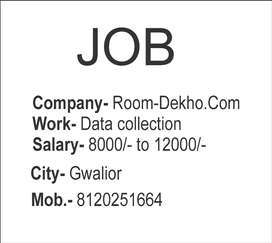 Data collection job in gwalior for room dekho