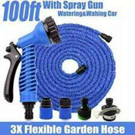 Magic Hose Water Pipe For Garden & Car Wash 100ft - Blue
