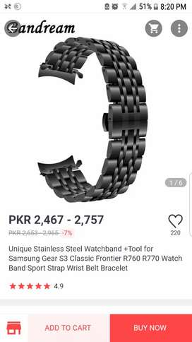 Gear s3 Unique stainless steel watch band