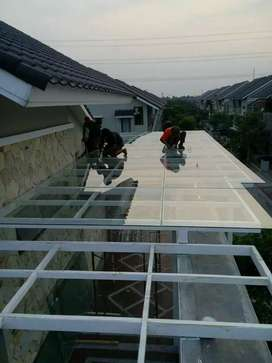 jasa pembuatan kanopi galvalum, rooftoop, spandex