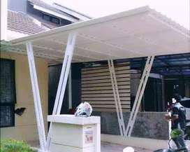 @47 canopy minimalis rangka tunggal atapnya alderon pvc bikin nyaman