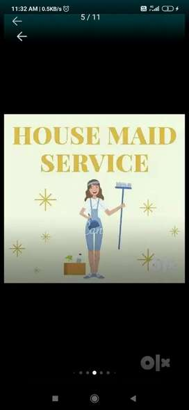 Urgent house maid requirement for 24 hours staying plus living plus fo
