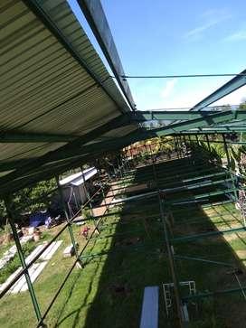 kontruksi baja berat ataupun raling tangga balkon dll