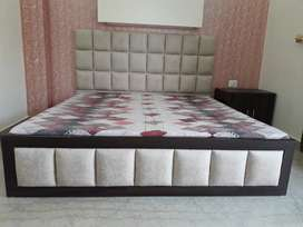New low floor Double Bed with 1 Side Table (without mattress)