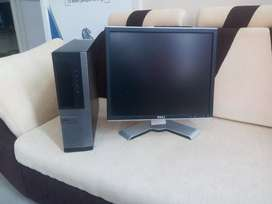 Dell system i3 2nd gen 250gb hdd 19 inch square monitor