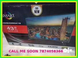 """New smart 43""""led tv full Hd Qled with 2 year warranty"""