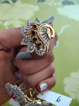 Peacock style diamond ring || With tag || Premium Quality