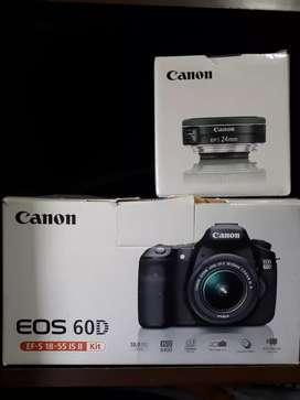 60D Fullset + EF 24mm + BG Bonus 2 Battery
