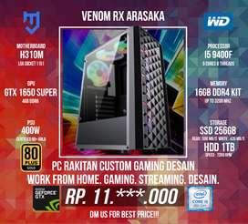 PC Rakitan For Gaming Desain I5 9400F GTX 1650 SUPER 4GB DDR6
