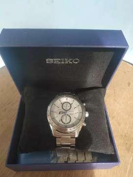 jam tangan Seiko Chronograph diameter 4.0