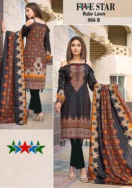Five Star Ruby Lawn Un-stitched Suit Summer Collection By Five Star