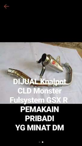 DIJUAL Knalpot CLD Monster Fulsystem GSX R