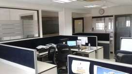Spacious furnished office with cabin and cabinet