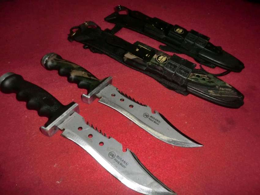 pisau hunting berburu outdoor survival sangkur militer 0