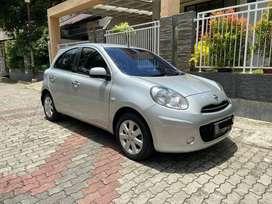 Nissan March 2012 MT AB Asli Pajak Baru Silver Istimewa Terawat Manual