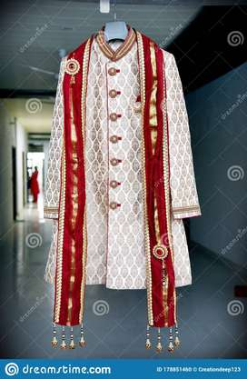wedding sherwani with pajama kurta (One time Use)