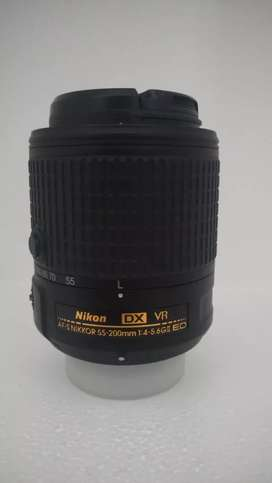 Nikon 55-200 afs dx vr2 with hood