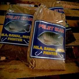 Umpan pancing dominan ikan Nila ( pelet goreng )
