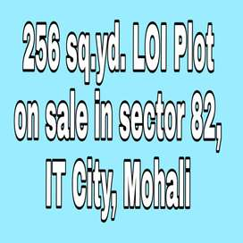 256 Sq.yd .plot on sale in IT CITY,Mohali.