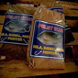 UMPAN PANCING,, pelet goreng dominan ikan NILA ( nila, bawal, patin )