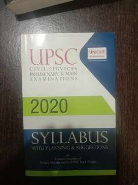 UPSC 2020 syllabus With planning and suggestions