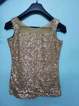 Golden Party wear bodycon skirt with top