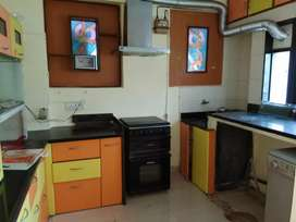 Furnished 2BHK flat for sale in Dhanori main road touch.