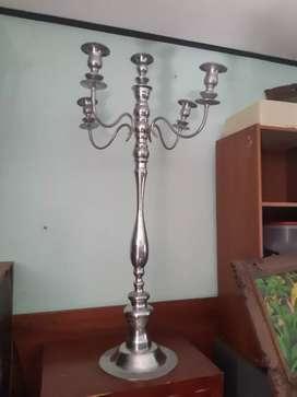 Candle holder aluminium / tempat lilin