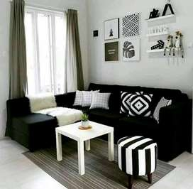 Sofa L minimalis full bludru