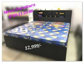 New Baleno Double Bed with Heavy Boxes