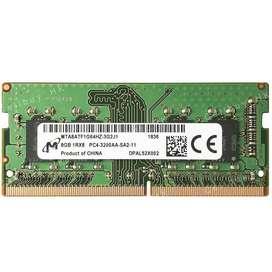 Micron 8GB 2Rx8 PC4-25600 DDR4 3200MHz Laptop RAM PC4-3200AA SoDIMM