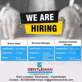 Immediate Openings For Assistant Business Manager