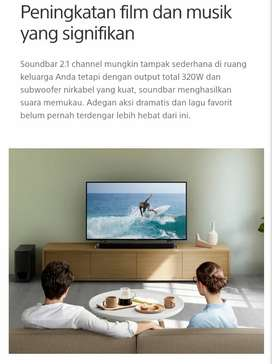 Promo SPESIAL Sony Soundbar 2.1ch dengan subwoofer nirkabel HT-S350