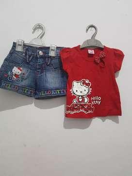 1 Set Hello Kitty 3-4 th nett