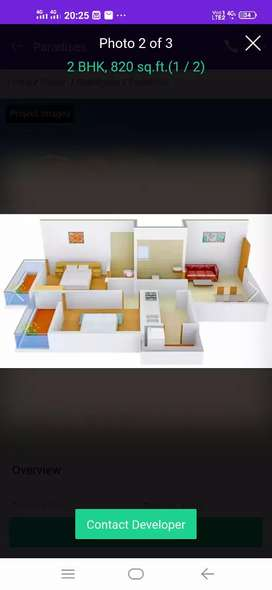 2bhk flat have to sale in dhebar city