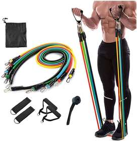 Resistance Exercise Bands with Door Anchor And Waterproof Carry Bag