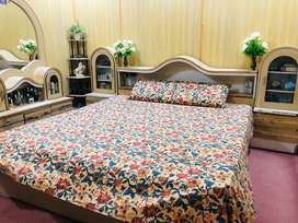 King size bed with dressing table