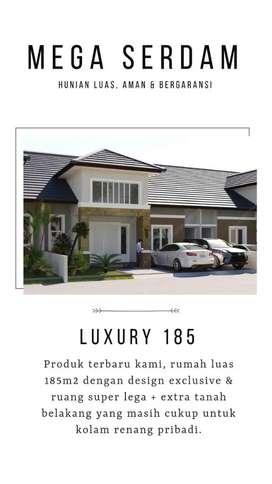 Rumah mewah Cluster terbaik di serdam dengan fasilitas harga termurah