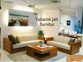 Sofa minimalis moderen model korea, formasi, 3.2. Bahan kayu jati asli