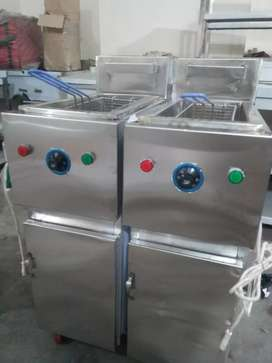 Fryer 8 litrs single basket sami auto stainless steel