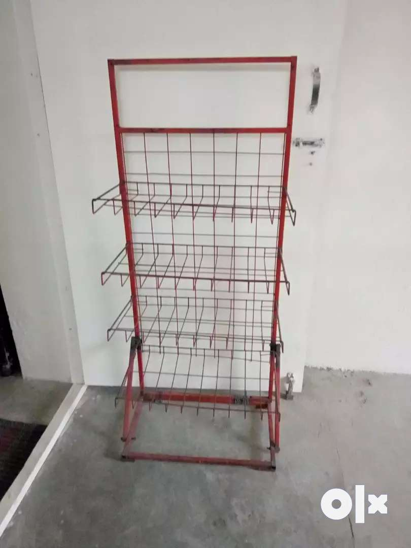Steel wire display rack for shops. 0