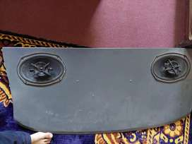 Boofer and sony speakers an emplifier 4 chanel in good condition