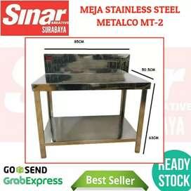 MEJA STAINLESS DAPUR METALCO MT-2 STEEL PART KNOCKDOWN PORTABLE