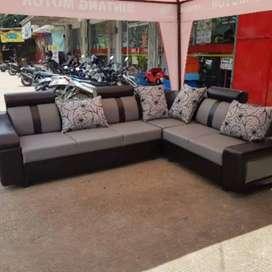 Promo sofa L sudut kain kagawa(informa)
