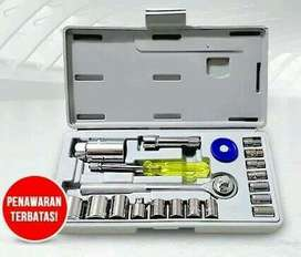 Tool kit 21 in 1 kunci sok pas