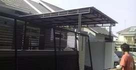 Kanopi minimalis atap zinggalum