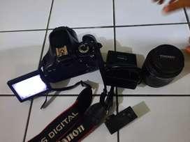 Kamera 600D + lensa fix + bpro